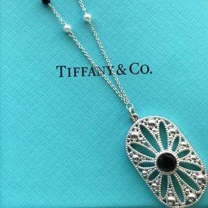 Tiffany & Co Zeigfeld Daisy Onyx Pearl Necklace